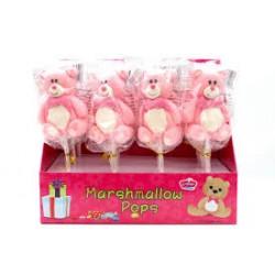 Orsetti rosa marshmallow pops 12 pz