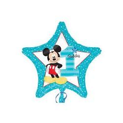 Palloncino 1° compleanno Topolino stella