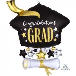 Palloncino 25 Super Shape Laurea Cap & Diploma