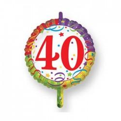 Palloncino 40 coriandoli blisterato