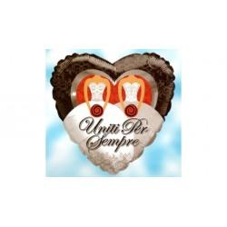 Palloncino cuore Uniti per Sempre spose