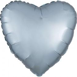 Palloncino cuore celeste pastello satinato