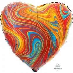Palloncino cuore colori variegati