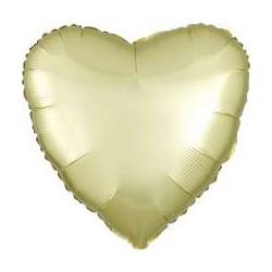 Palloncino cuore giallo satinato
