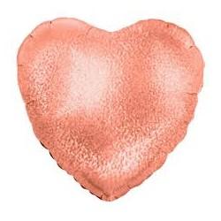 Palloncino cuore rosa gold glitter