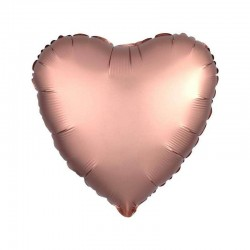 Palloncino cuore rosa gold satinato