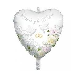 Palloncino cuore Viva gli sposi 80 cm