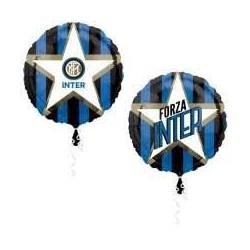 Palloncino forza Inter neroazzurro