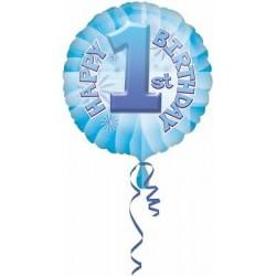 Palloncino Happy 1st birthday blu