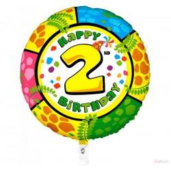 Palloncino Happy 2nd birthday
