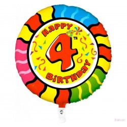Palloncino Happy 4th birthday
