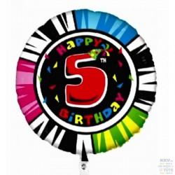 Palloncino Happy 5th birthday