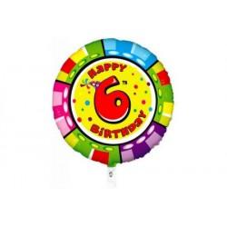 Palloncino Happy 6th birthday