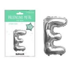 Palloncino lettera E argento