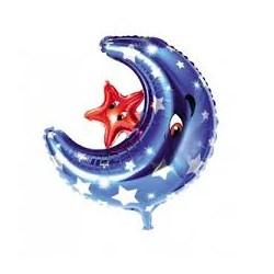 Palloncino luna blu con stella