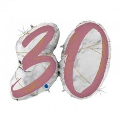 Palloncino marmorizzato rosa n 30
