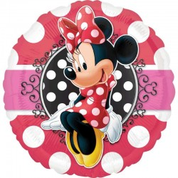 Palloncino Minnie rosso/nero