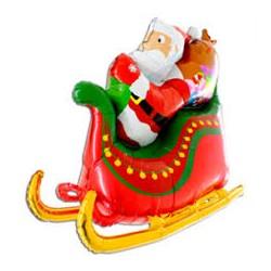 Palloncino Slitta Babbo Natale 4D