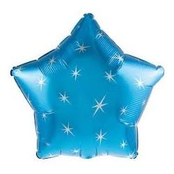 Palloncino stella azzurro sparkle
