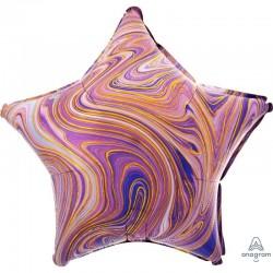 Palloncino stella colori variegati (viola)