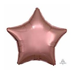Palloncino stella rosa gold metallico