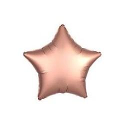 Palloncino stella rosa gold satinato