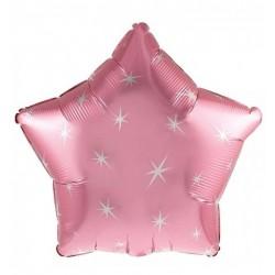 Palloncino stella rosa sparkle