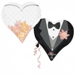 Palloncino supershape cuori doppio: sposo