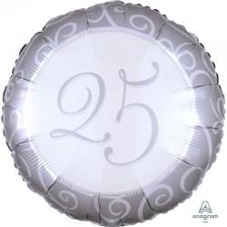 Palloncino tondo 25 argento