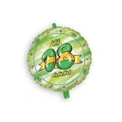 Pallone 18 anni green and gold