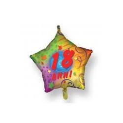 Pallone 18 anni stella multicolor