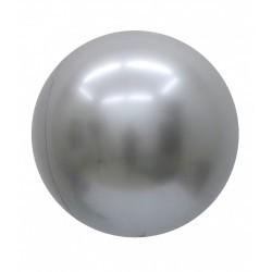 Pallone bubble chrome argento