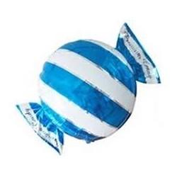 Pallone caramella blu e bianca