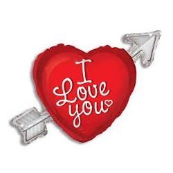 Pallone cuore con freccia I love you