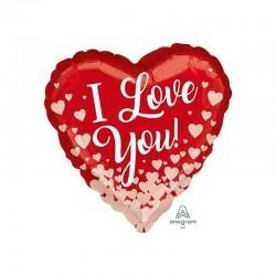 Pallone cuore rosso I Love You