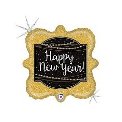 Pallone Happy new year glitter holographic