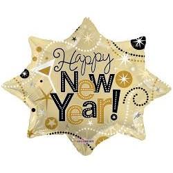 Pallone HAPPY NEW YEAR super shape explosionPallone stella HAPPY NEW YEAR