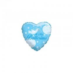 Pallone il mio battesimo cuore celeste 46 cm
