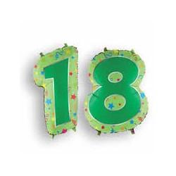 Pallone numero 18 verde