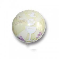Pallone Prima Comunione mylar 45 cm avorio