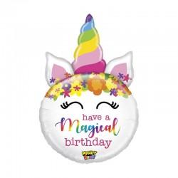 Pallone Sagomato unicorno have a magical birthday
