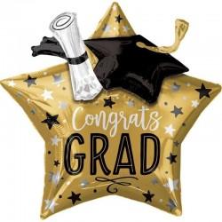 Pallone supershape stella gold Graduation