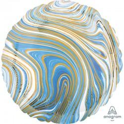 Pallone tondo marmorizzato azzurro