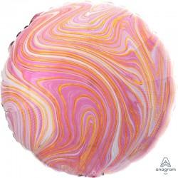 Pallone tondo marmorizzato rosa