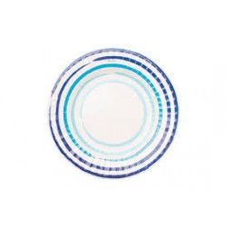 Piatti linee sfumature blu