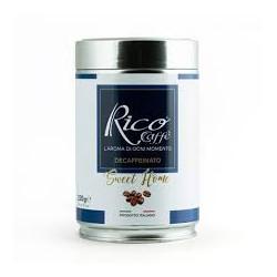 Rico caffè: l\'aroma di ogni momento, caffè macinato BLUE LINE DECAFFEINATO