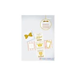 Scatola Happy birthday rosa gold e bianca