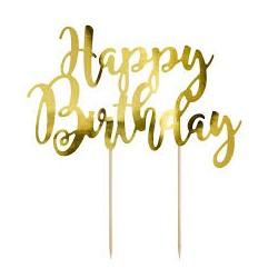 Scritta Happy Birthday oro