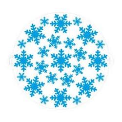 Stencil decorativo: frozen star
