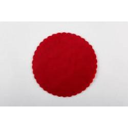 Tulle organza rosso